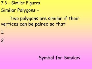 7.3 – Similar Figures