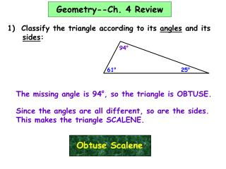 Geometry--Ch. 4 Review