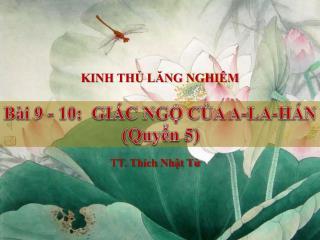 KINH THỦ LĂNG NGHIÊM