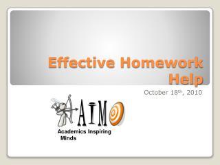 Effective Homework Help
