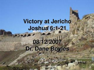 Victory at Jericho Joshua 6:1-21  08