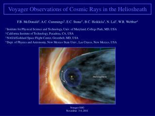 Voyager SSG  November  3-4, 2011