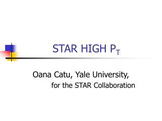 STAR HIGH P T
