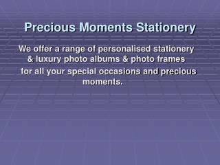 Precious moments stationery