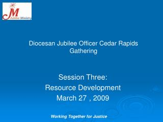 Diocesan Jubilee Officer Cedar Rapids Gathering
