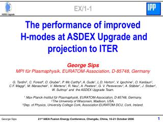 The performance of improved  H-modes at ASDEX Upgrade and projection to ITER George Sips