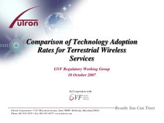 Comparison of Technology Adoption Rates for Terrestrial Wireless Services