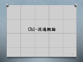 Ch1- 流通概論