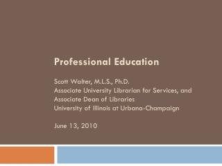 Office of Graduate  Professional Education