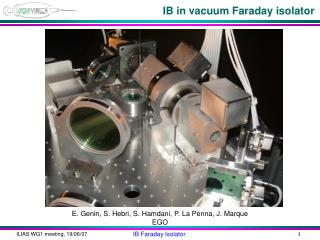 IB in vacuum Faraday isolator