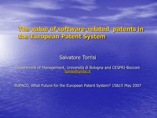 The value of software-related  patents in the European Patent System