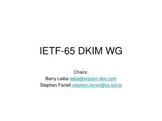 IETF-65 DKIM WG