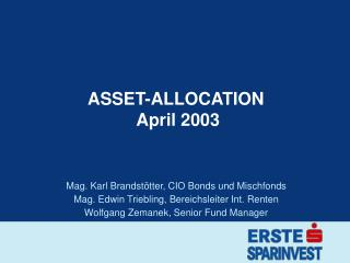 ASSET-ALLOCATION   April 2003