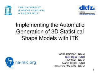 Implementing the Automatic Generation of 3D Statistical Shape Models with ITK