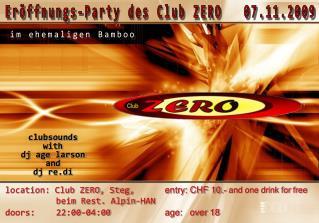 Eröffnungs-Party des Club ZERO   07.11.2009