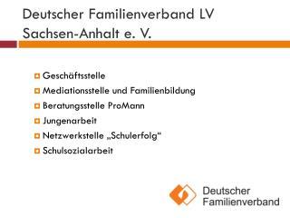 Deutscher Familienverband LV Sachsen-Anhalt e. V.
