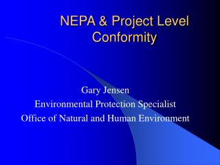NEPA  Project Level Conformity