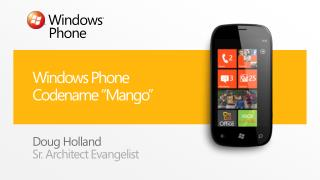 Windows Phone Codename  Mango