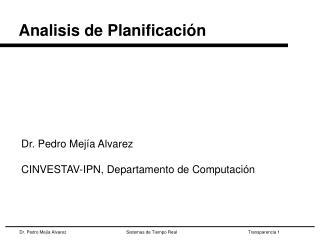 Analisis de Planificación