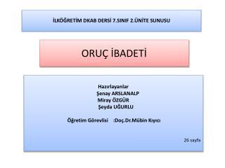 İLKÖĞRETİM DKAB DERSİ 7.SINIF 2.ÜNİTE SUNUSU