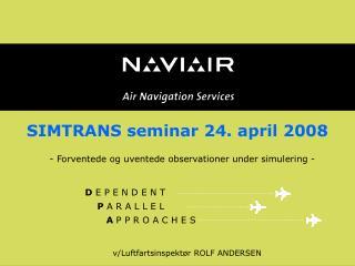 SIMTRANS seminar 24. april 2008