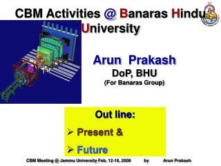CBM Activities  @ B anaras  H indu  U niversity