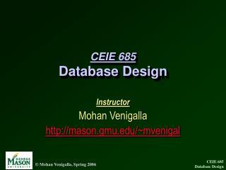 CEIE 685 Database Design