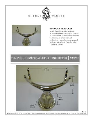 PRODUCT FEATURES   Solid brass/bronze construction   Available in all Sherle Wagner Finishes