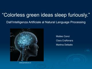Dall�Intelligenza Artificiale al Natural Language Processing