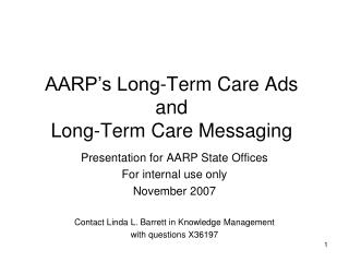 AARP's Long-Term Care Ads and Long-Term Care Messaging