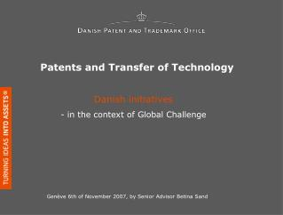 Patents and Transfer of Technology