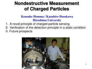 Nondestructive Measurement of Charged Particles