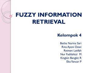 FUZZY INFORMATION RETRIEVAL