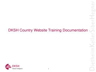 DKSH Country Website Training Documentation