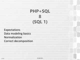 PHP+SQL 8 (SQL 1)