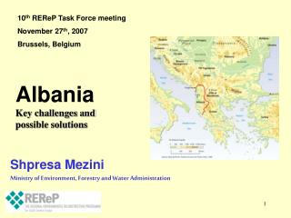 Shpresa Mezini Ministry of Environment, Forestry and Water Administration