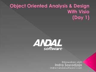 Object Oriented Analysis & Design With Visio (Day 1)