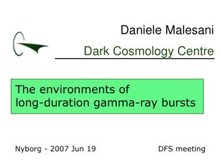 The environments of long-duration gamma-ray bursts