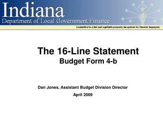 The 16-Line Statement Budget Form 4-b
