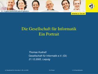 Die Gesellschaft für Informatik Ein Portrait