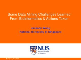 Some Data Mining Challenges Learned From Bioinformatics & Actions Taken