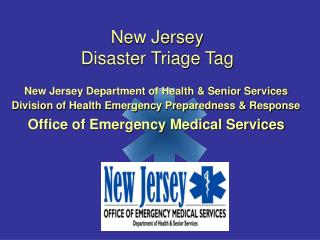 New Jersey  Disaster Triage Tag