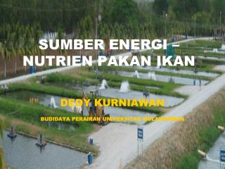 SUMBER ENERGI � NUTRIEN PAKAN IKAN