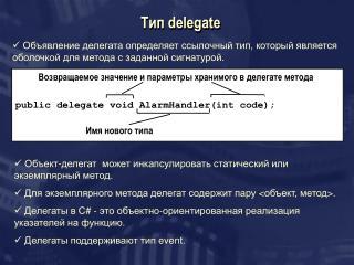 Тип  delegate
