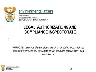 LEGAL, AUTHORIZATIONS AND COMPLIANCE INSPECTORATE
