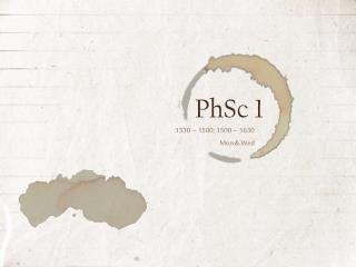 PhSc  1