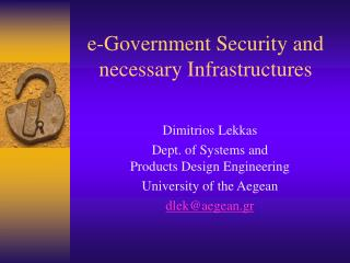 e-Government Security and necessary Infrastructures