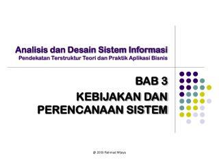 Analisis dan Desain Sistem Informasi Pendekatan Terstruktur Teori dan Praktik Aplikasi Bisnis
