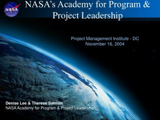 NASA�s Academy for Program & Project Leadership