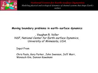 Moving boundary problems in earth-surface dynamics , Vaughan R. Voller